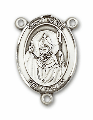 St David Patron Saint of Doves and Wales Sterling Silver Rosary Center by Bliss
