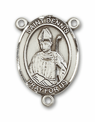 St Dennis is the Patron Saint of Headaches Sterling Silver Rosary Center by Bliss