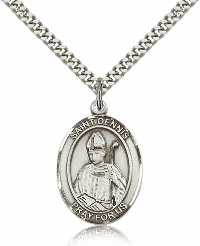St Dennis Pewter Patron Saint Necklace by Bliss