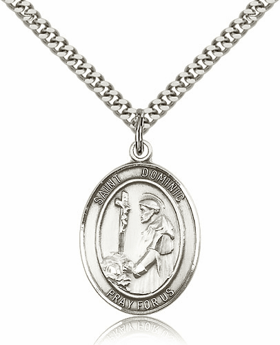 St Dominic de Guzman is the Patron Saint of Astronomy Sterling-filled Medal by Bliss