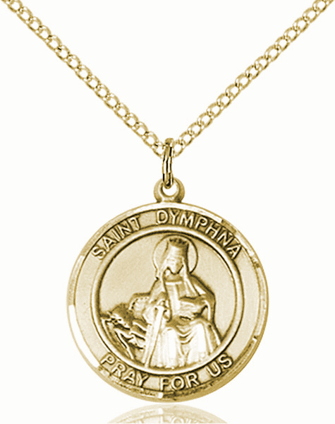 St Dymphna Medium Patron Saint 14kt Gold-filled Medal by Bliss
