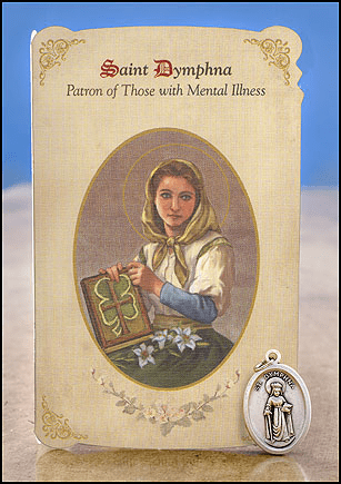 St Dymphna Mental Illness Healing Holy Cards Sets 6 pcs by Milagros