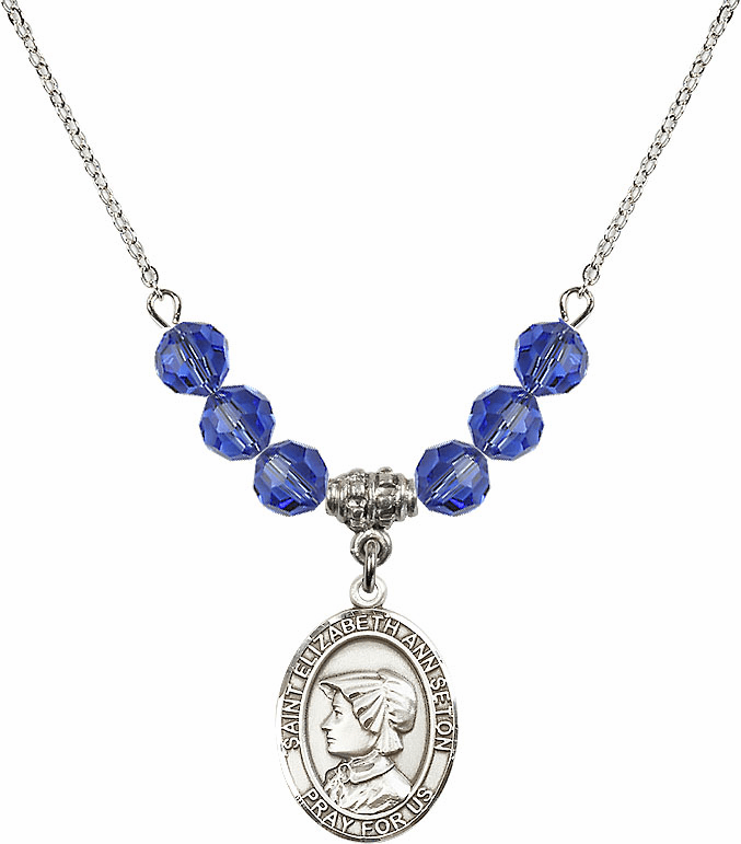 St Elizabeth Ann Seton Beaded Necklace Jewelry