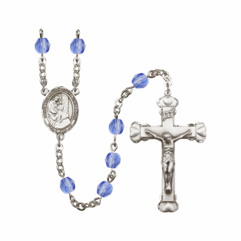 St Elizabeth of the Visitation Saint Birthstone Fire Polished Crystal Rosary