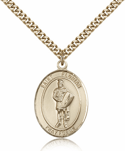 St Florian 14kt Gold-filled Saint Necklace by Bliss