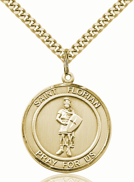 St Florian Large Patron Saint 14kt Gold-filled Medal by Bliss