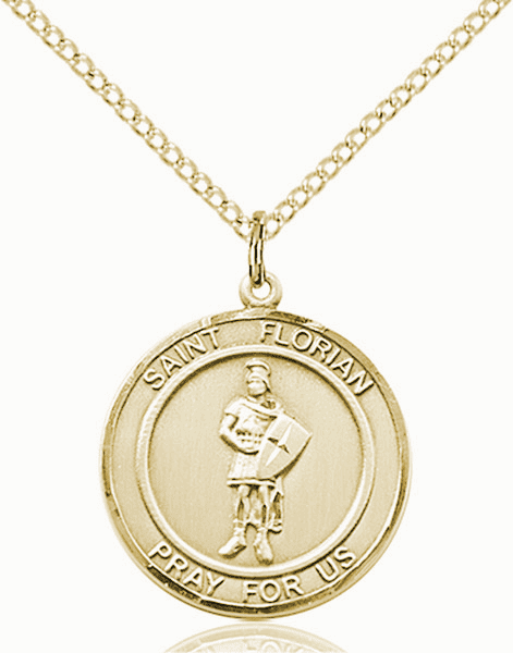 St Florian Medium Patron Saint 14kt Gold-filled Medal by Bliss