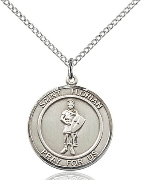 St Florian Medium Patron Saint Pewter Medal by Bliss