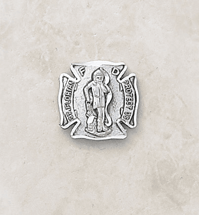 St Florian Sterling Silver Lapel Pin by Creed Jewelry