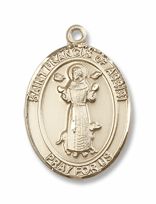St Francis 14kt Gold Medals