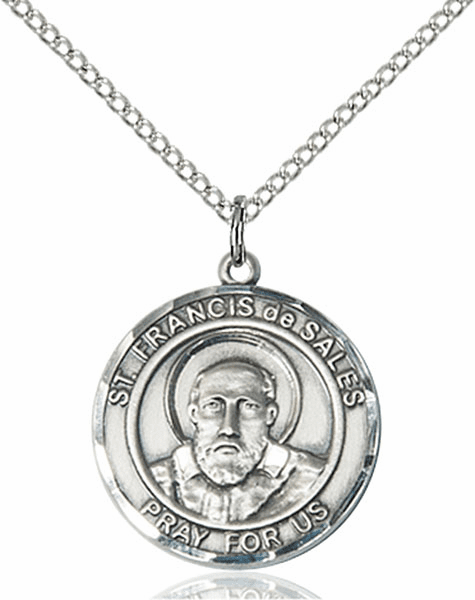 St Francis de Sales Medium Patron Saint Pewter Medal by Bliss