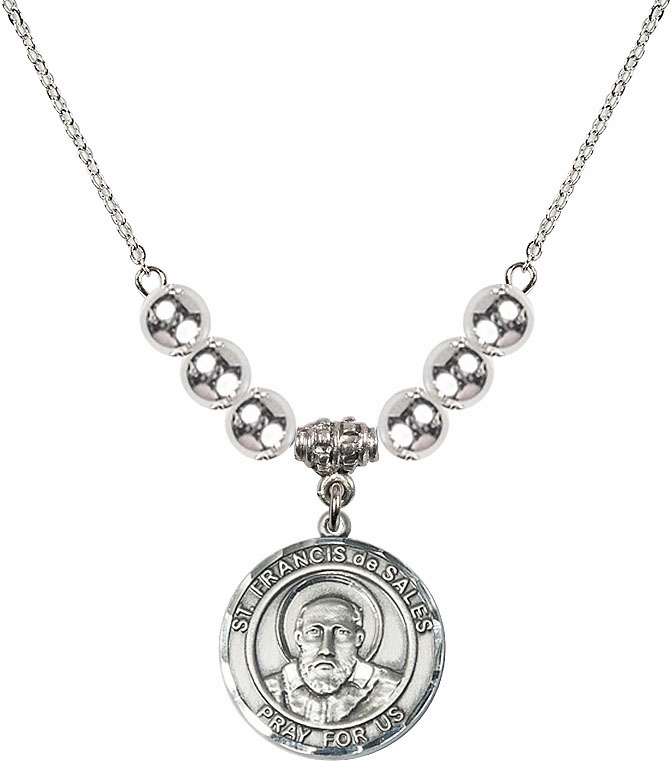 St Francis de Sales Silver Necklace by Bliss Mfg