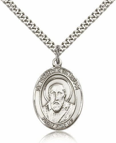 St Francis de Sales Sterling Silver-filled Patron Saint Necklace by Bliss