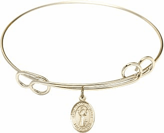 St Francis of Assisi Charm Bangle and Rosary Bracelets