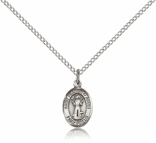 St. Francis of Assisi Sterling Silver Pendant Necklace by Bliss