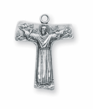 St. Francis of Assisi Tao Cross Necklace by HMH Religious