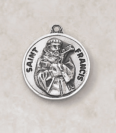 St Francis Sterling Patron Saint Medal w/Chain by Creed Jewelry