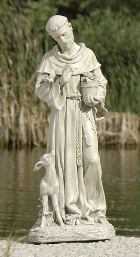 St Francis with a Baby Fawn Joseph Studios Garden Statuary