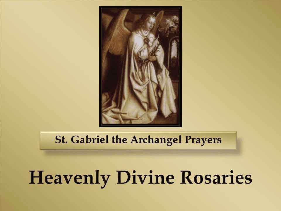 St. Gabriel the Archangel Prayers