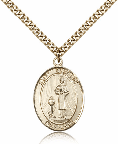 St Genesius of Rome 14kt Gold-filled Saint Necklace by Bliss
