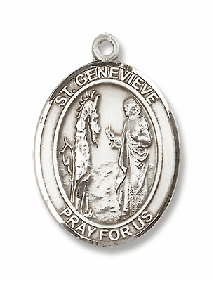 St Genevieve Patron Saint of Diasters/Women Army Corps Jewelry & Gifts