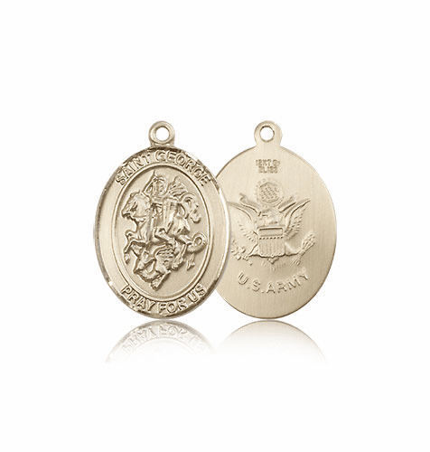 St. George 14kt Gold Military Army Medal Pendant by Bliss Mfg