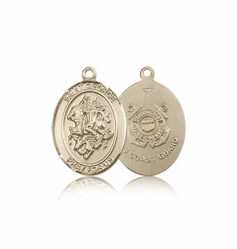 St. George Military Coast Guard 14kt Gold Medal