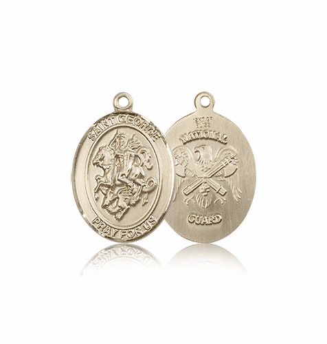 St. George Military National Guard 14kt Gold Medal Pendant by Bliss
