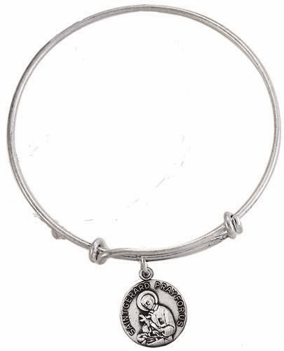 St Gerard Charm Bangle Bracelet by Jeweled Cross