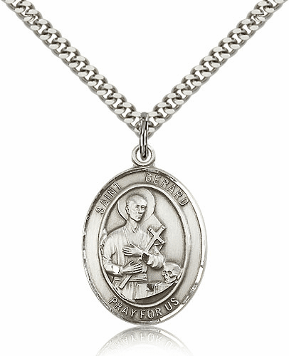 St Gerard Majella Silver-filled Patron Saint Pendant Necklace by Bliss