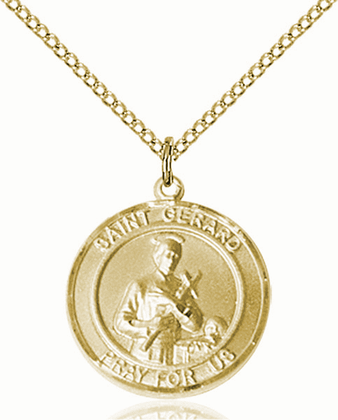 St Gerard Medium Patron Saint 14kt Gold-filled Medal by Bliss