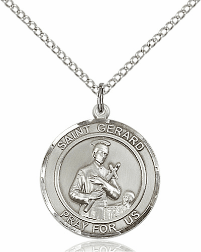 St Gerard Medium Patron Saint Sterling Silver Medal by Bliss