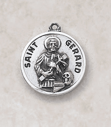 St Gerard Sterling Patron Saint Medal w/Chain by Creed Jewelry