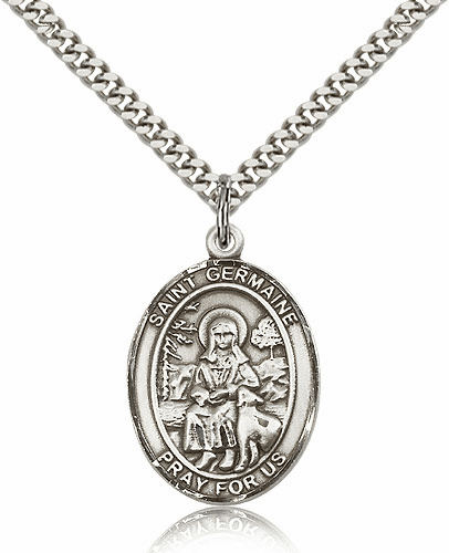 St Germaine Cousin Sterling-Filled Patron Saint Medal Necklace by Bliss