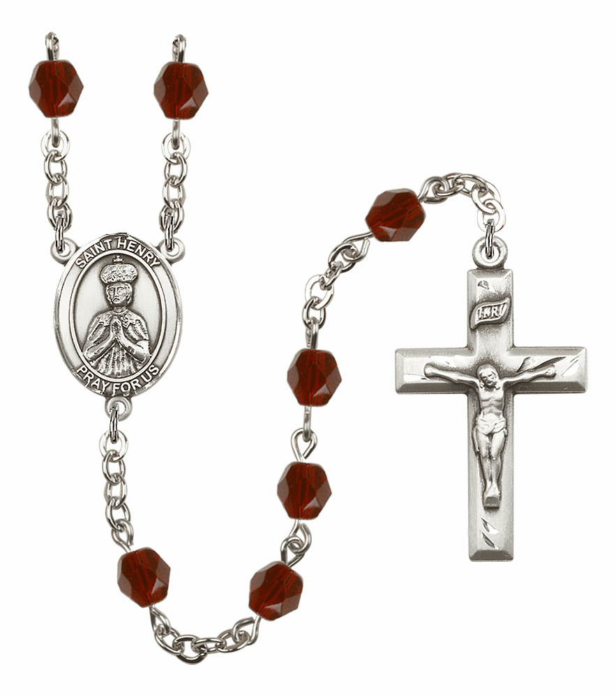 St Henry II Birthstone Crystal Prayer Rosary by Bliss - More Colors