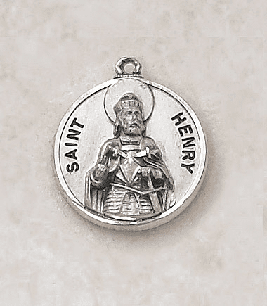 St Henry Sterling Patron Saint Medal w/Chain by Creed Jewelry