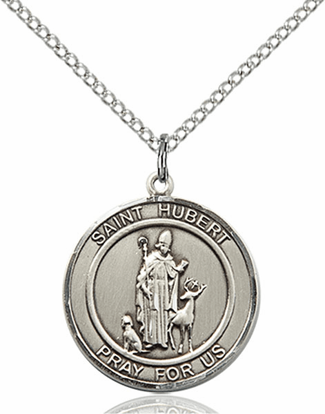 St Hubert Medium Patron Saint Silver-filled Medal by Bliss