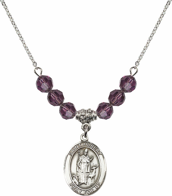 St Hubert of Liege Swarovski Necklace by Bliss Mfg More Colors