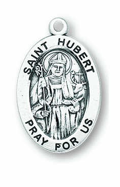 St Hurbert Patron Saint Necklace by HMH Religious