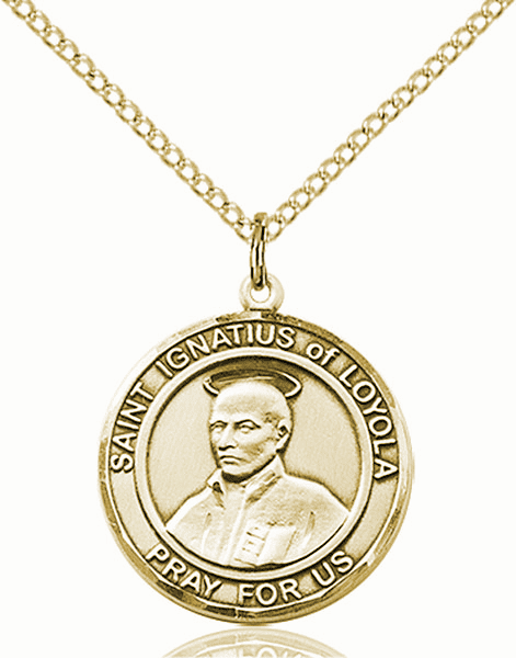 St Ignatius of Loyola Medium Patron Saint 14kt Gold-filled Medal by Bliss