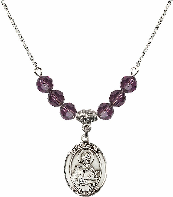 St Isidore of Seville Swarovski Necklace by Bliss Mfg - More Colors