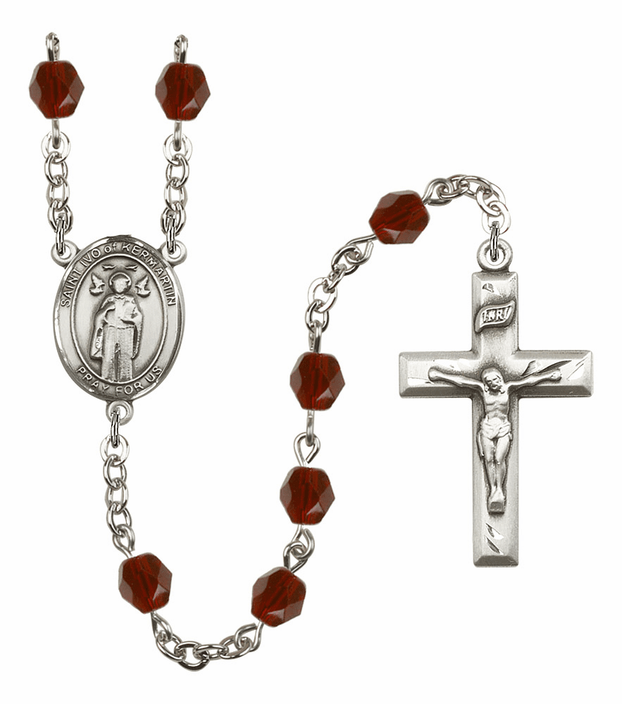 St Ivo of Kelmartin Birthstone Crystal Prayer Rosary by Bliss - More Colors