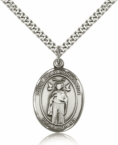 St Ivo of Kermartin Silver-Filled Patron Saint Necklace by Bliss