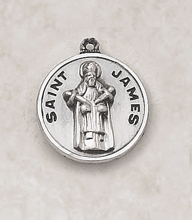 St James Sterling Patron Saint Medal w/Chain by Creed Jewelry