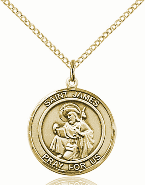 St James the Greater Medium Patron Saint 14kt Gold-filled Medal by Bliss