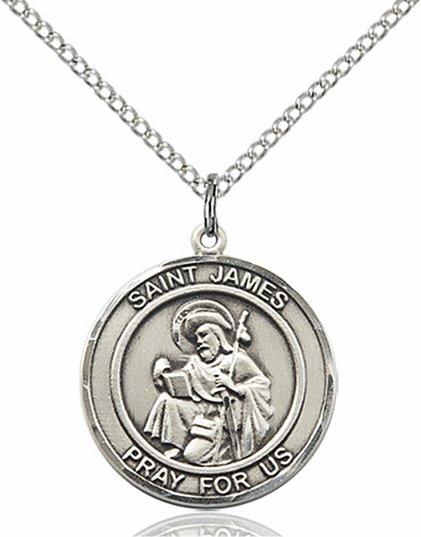 St James the Greater Medium Patron Saint Pewter Medal by Bliss