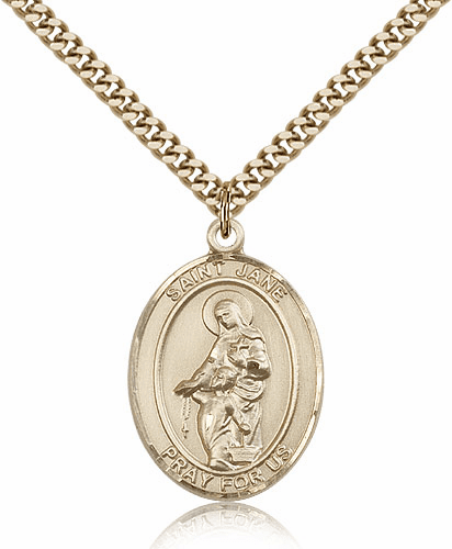 St Jane of Valois Patron Saint 14kt Gold-Filled Medal by Bliss