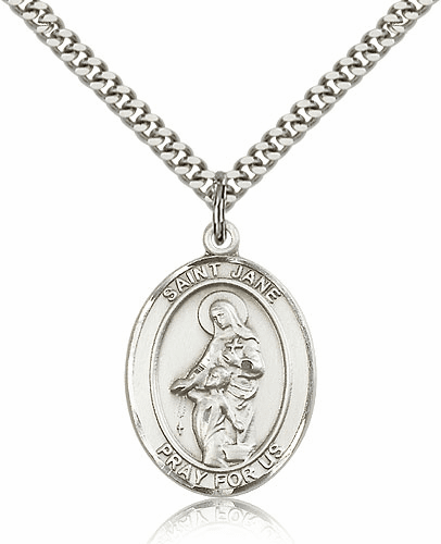 St Jane of Valois Pewter Patron Saint Necklace by Bliss