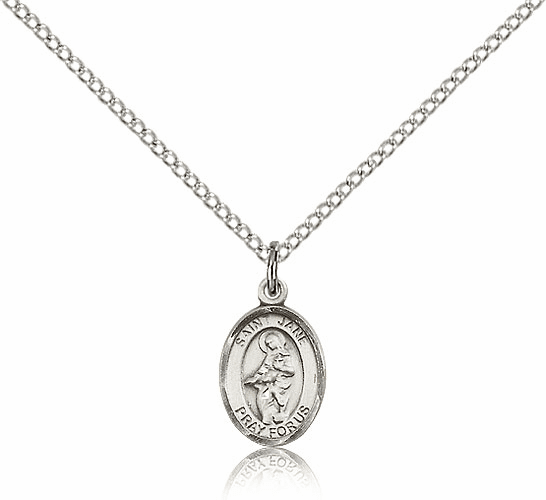 St. Jane of Valois Sterling Silver Pendant Necklace by Bliss