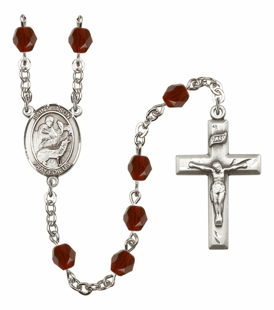 St Jason Birthstone Crystal Prayer Rosary by Bliss - More Colors